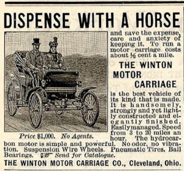 Reklama Winton 1898
