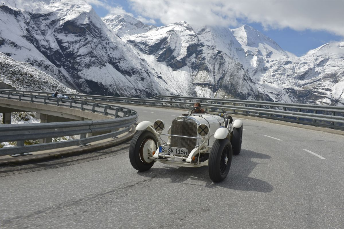 Mercedes-Benz SSK Baujahr 1927 am Großglockner