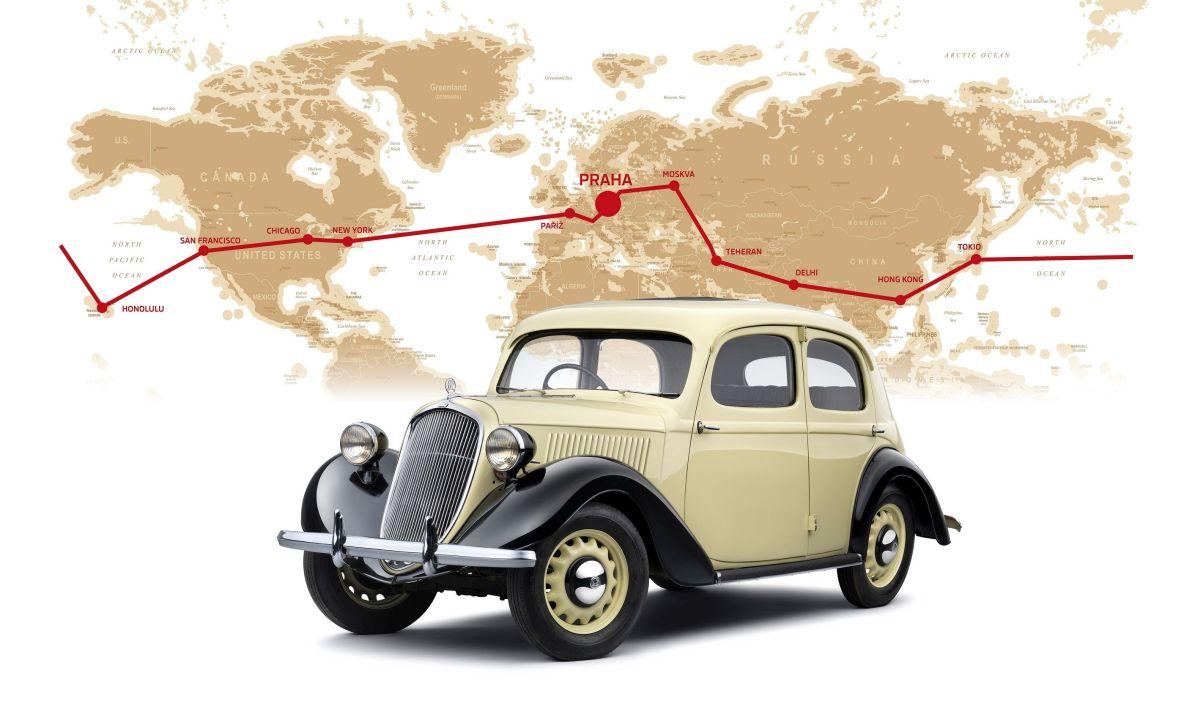 80 rokov od cesty okolo sveta skoda rapid